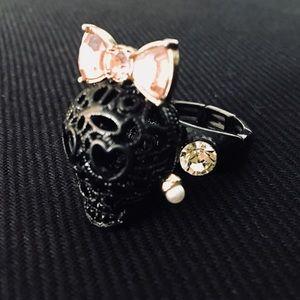 Darling Betsey Johnson Skull Ring